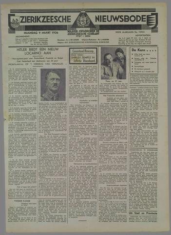 Zierikzeesche Nieuwsbode 1936-03-09