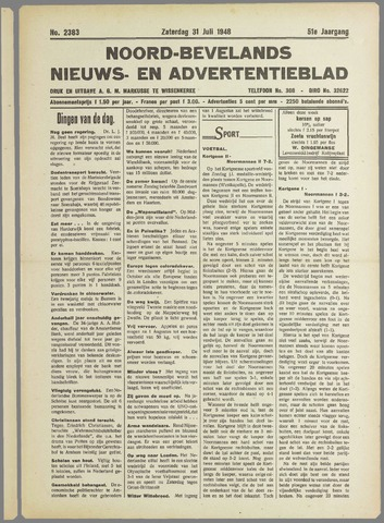Noord-Bevelands Nieuws- en advertentieblad 1948-07-31