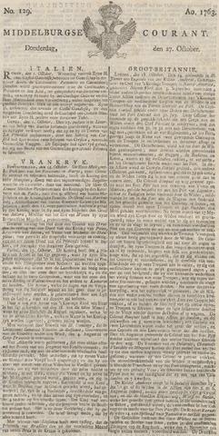 Middelburgsche Courant 1763-10-27