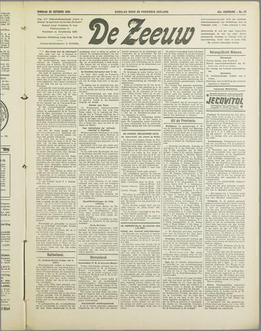 De Zeeuw. Christelijk-historisch nieuwsblad voor Zeeland 1934-10-30