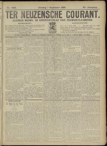 Ter Neuzensche Courant. Algemeen Nieuws- en Advertentieblad voor Zeeuwsch-Vlaanderen / Neuzensche Courant ... (idem) / (Algemeen) nieuws en advertentieblad voor Zeeuwsch-Vlaanderen 1920-09-07