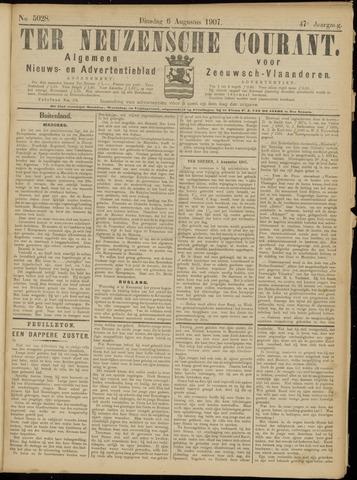 Ter Neuzensche Courant. Algemeen Nieuws- en Advertentieblad voor Zeeuwsch-Vlaanderen / Neuzensche Courant ... (idem) / (Algemeen) nieuws en advertentieblad voor Zeeuwsch-Vlaanderen 1907-08-06