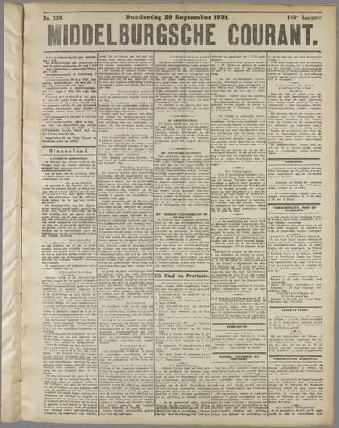 Middelburgsche Courant 1921-09-29