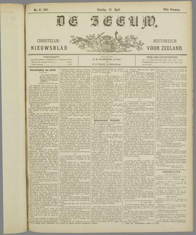De Zeeuw. Christelijk-historisch nieuwsblad voor Zeeland 1897-04-24