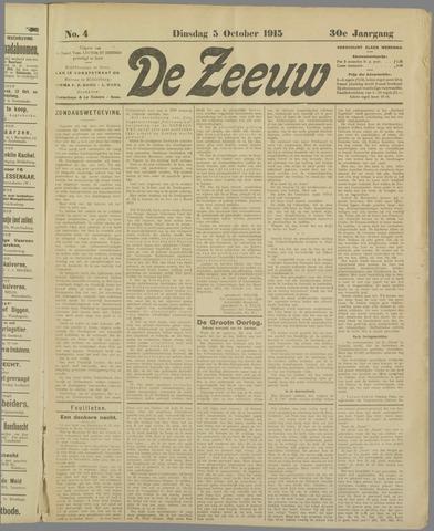 De Zeeuw. Christelijk-historisch nieuwsblad voor Zeeland 1915-10-05