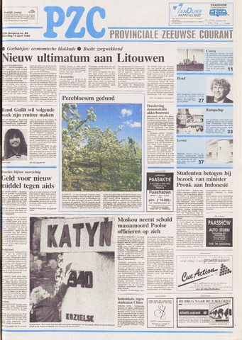 Provinciale Zeeuwse Courant 1990-04-14