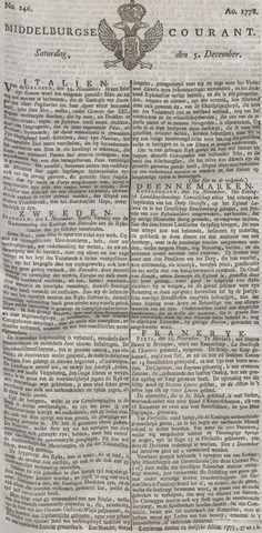 Middelburgsche Courant 1778-12-05