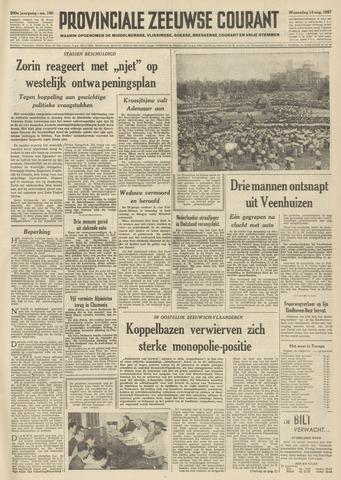 Provinciale Zeeuwse Courant 1957-08-14