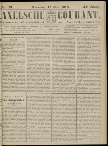 Axelsche Courant 1918-06-12
