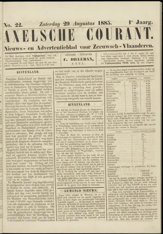 Axelsche Courant 1885-08-29