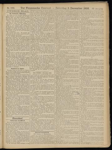 Ter Neuzensche Courant. Algemeen Nieuws- en Advertentieblad voor Zeeuwsch-Vlaanderen / Neuzensche Courant ... (idem) / (Algemeen) nieuws en advertentieblad voor Zeeuwsch-Vlaanderen 1903-12-05