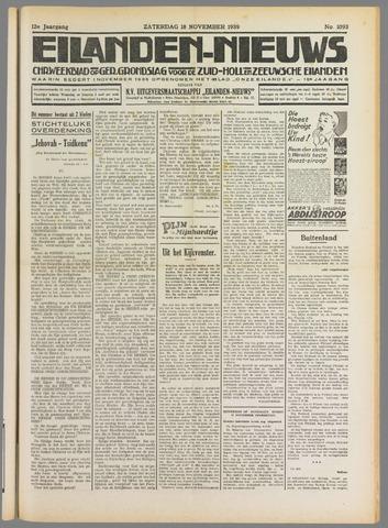 Eilanden-nieuws. Christelijk streekblad op gereformeerde grondslag 1939-11-18