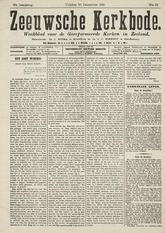 Zeeuwsche kerkbode, weekblad gewijd aan de belangen der gereformeerde kerken/ Zeeuwsch kerkblad 1921-12-30
