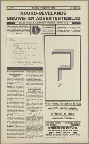Noord-Bevelands Nieuws- en advertentieblad 1935-09-21