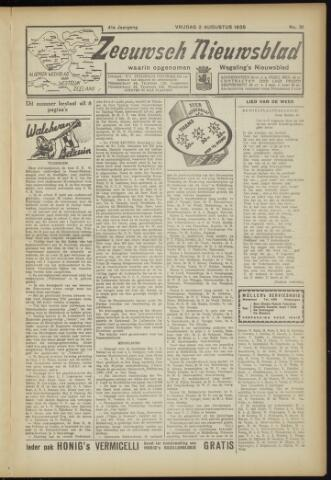 Zeeuwsch Nieuwsblad/Wegeling's Nieuwsblad 1935-08-02
