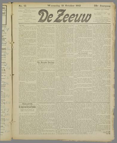 De Zeeuw. Christelijk-historisch nieuwsblad voor Zeeland 1917-10-17
