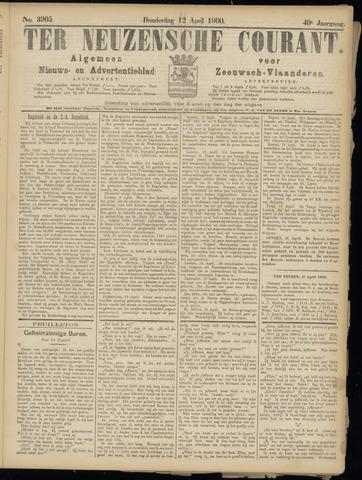 Ter Neuzensche Courant. Algemeen Nieuws- en Advertentieblad voor Zeeuwsch-Vlaanderen / Neuzensche Courant ... (idem) / (Algemeen) nieuws en advertentieblad voor Zeeuwsch-Vlaanderen 1900-04-12