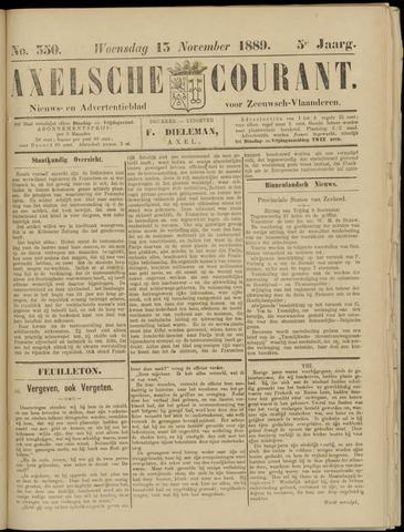Axelsche Courant 1889-11-13