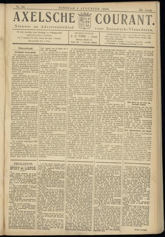 Axelsche Courant 1936-08-04