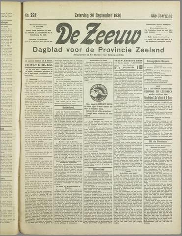 De Zeeuw. Christelijk-historisch nieuwsblad voor Zeeland 1930-09-20