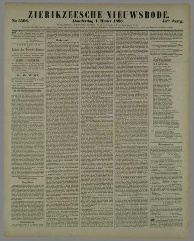 Zierikzeesche Nieuwsbode 1888-03-01