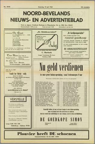 Noord-Bevelands Nieuws- en advertentieblad 1961-07-15
