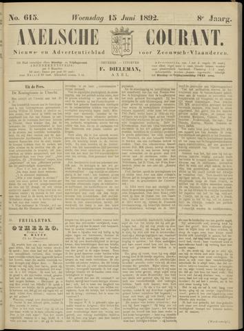 Axelsche Courant 1892-06-15