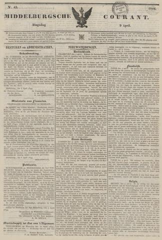Middelburgsche Courant 1844-04-09