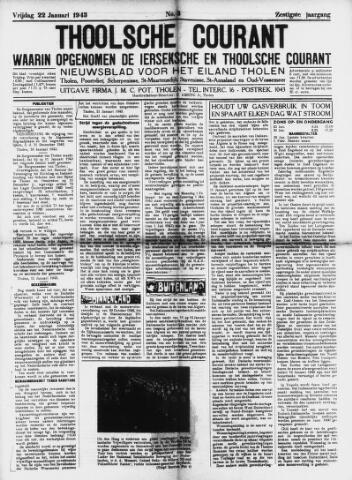 Ierseksche en Thoolsche Courant 1943-01-22