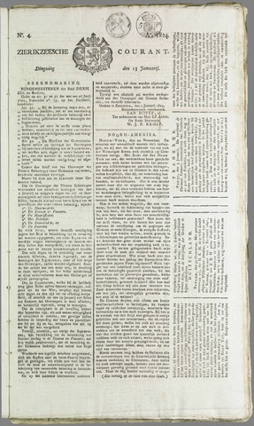 Zierikzeesche Courant 1824-01-13