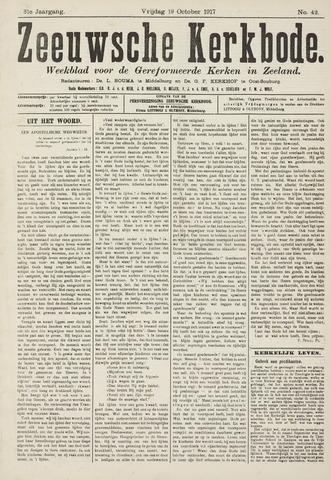 Zeeuwsche kerkbode, weekblad gewijd aan de belangen der gereformeerde kerken/ Zeeuwsch kerkblad 1917-10-19