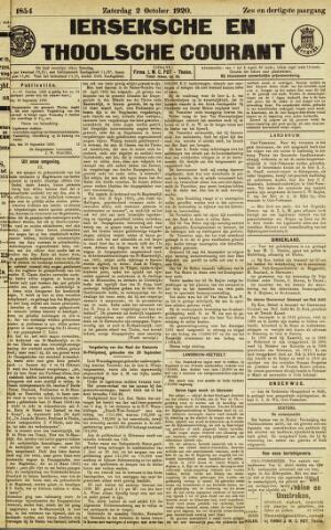 Ierseksche en Thoolsche Courant 1920-10-02