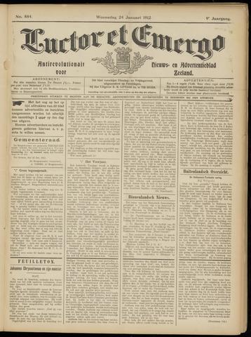 Luctor et Emergo. Antirevolutionair nieuws- en advertentieblad voor Zeeland / Zeeuwsch-Vlaanderen. Orgaan ter verspreiding van de christelijke beginselen in Zeeuwsch-Vlaanderen 1912-01-24