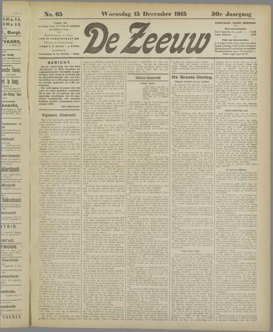 De Zeeuw. Christelijk-historisch nieuwsblad voor Zeeland 1915-12-15