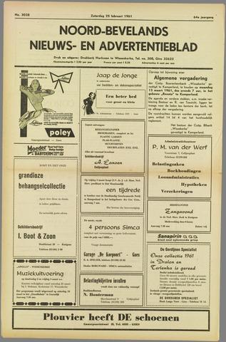 Noord-Bevelands Nieuws- en advertentieblad 1961-02-25