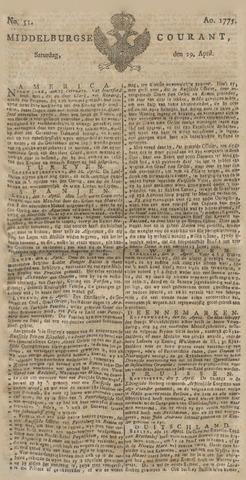Middelburgsche Courant 1775-04-29