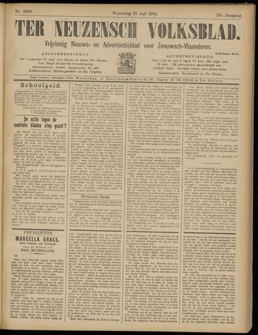 Ter Neuzensch Volksblad. Vrijzinnig nieuws- en advertentieblad voor Zeeuwsch- Vlaanderen / Zeeuwsch Nieuwsblad. Nieuws- en advertentieblad voor Zeeland 1914-07-22