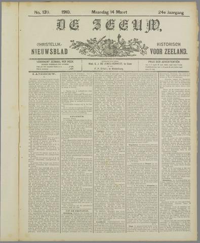 De Zeeuw. Christelijk-historisch nieuwsblad voor Zeeland 1910-03-14