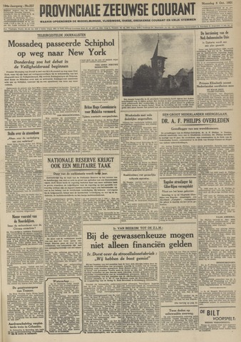 Provinciale Zeeuwse Courant 1951-10-08