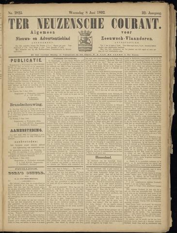 Ter Neuzensche Courant. Algemeen Nieuws- en Advertentieblad voor Zeeuwsch-Vlaanderen / Neuzensche Courant ... (idem) / (Algemeen) nieuws en advertentieblad voor Zeeuwsch-Vlaanderen 1892-06-08