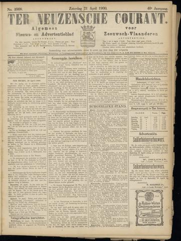 Ter Neuzensche Courant. Algemeen Nieuws- en Advertentieblad voor Zeeuwsch-Vlaanderen / Neuzensche Courant ... (idem) / (Algemeen) nieuws en advertentieblad voor Zeeuwsch-Vlaanderen 1900-04-21