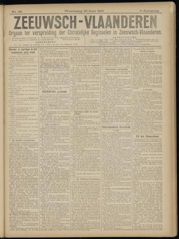 Luctor et Emergo. Antirevolutionair nieuws- en advertentieblad voor Zeeland / Zeeuwsch-Vlaanderen. Orgaan ter verspreiding van de christelijke beginselen in Zeeuwsch-Vlaanderen 1918-06-26