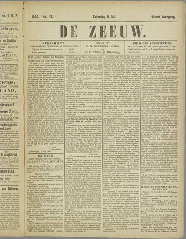 De Zeeuw. Christelijk-historisch nieuwsblad voor Zeeland 1890-07-05
