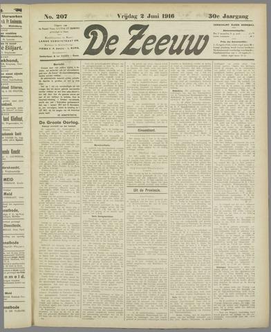 De Zeeuw. Christelijk-historisch nieuwsblad voor Zeeland 1916-06-01