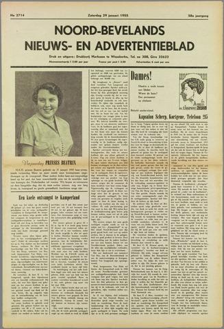 Noord-Bevelands Nieuws- en advertentieblad 1955-01-29
