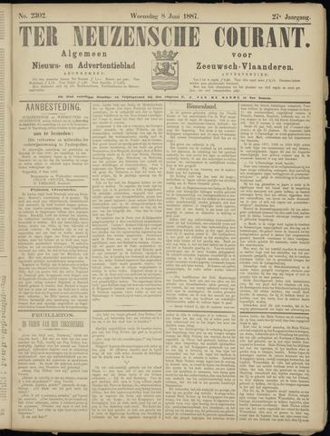 Ter Neuzensche Courant. Algemeen Nieuws- en Advertentieblad voor Zeeuwsch-Vlaanderen / Neuzensche Courant ... (idem) / (Algemeen) nieuws en advertentieblad voor Zeeuwsch-Vlaanderen 1887-06-08