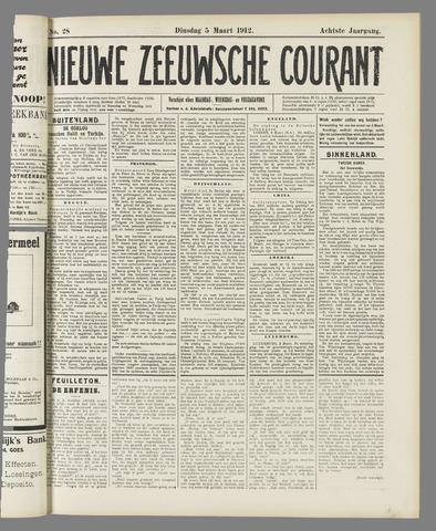 Nieuwe Zeeuwsche Courant 1912-03-05