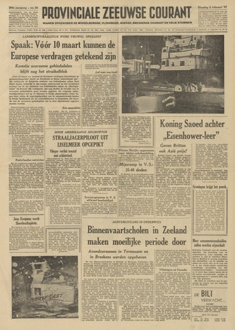 Provinciale Zeeuwse Courant 1957-02-05