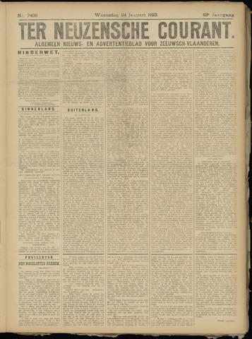 Ter Neuzensche Courant. Algemeen Nieuws- en Advertentieblad voor Zeeuwsch-Vlaanderen / Neuzensche Courant ... (idem) / (Algemeen) nieuws en advertentieblad voor Zeeuwsch-Vlaanderen 1923-01-24