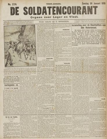 De Soldatencourant. Orgaan voor Leger en Vloot 1916-01-30